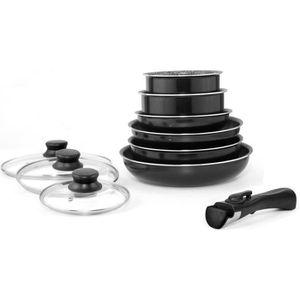 BATTERIE DE CUISINE Art & Cuisine Batterie de cuisine 10 pièces tous f
