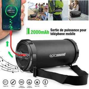 ENCEINTE NOMADE Enceinte Bluetooth, Haut-parleurs sans fil portabl