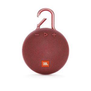 ENCEINTE NOMADE JBL CLIP 3 rouge Enceinte Bluetooth - Waterproof -