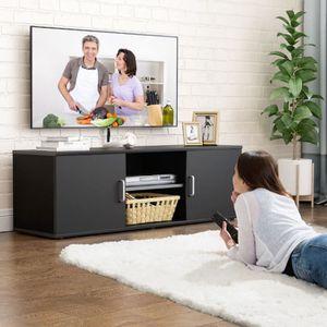 MEUBLE TV Support TV Meuble TV Moderne Scandinave - Noir - 1