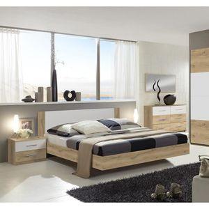 ETABLI - MEUBLE ATELIER Chambre adulte 160 X 200 cm imitation chêne poutre