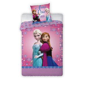 HOUSSE DE COUETTE ET TAIES Parure de lit Reine des Neiges Frozen Disney