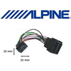 CÂBLE TV - VIDÉO - SON Câble adaptateur ISO autoradio ALPINE 16 Pins noir