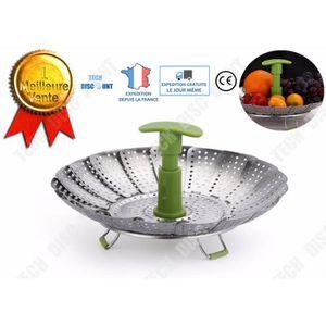PANIER DE CUISSON  TD® Panier vapeur bambou casserole légumes ajustab