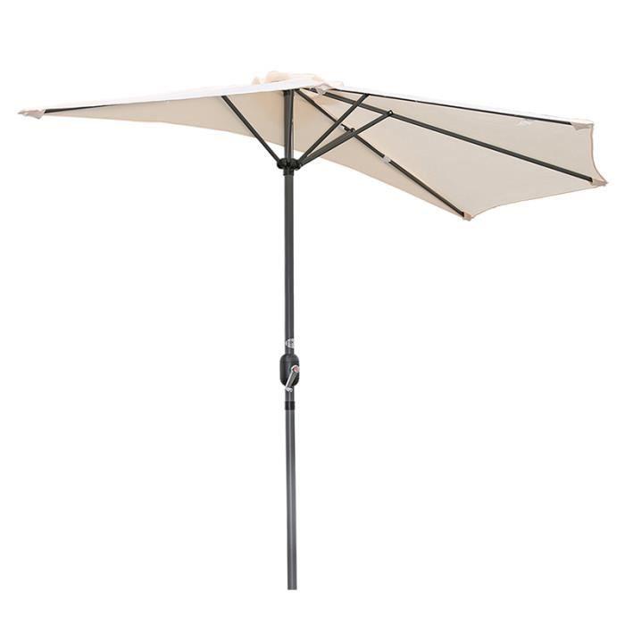 Angel Living 270cm Demi-parasol Pour Balcon ou Jardin,Plage,IP50+ (Crème)