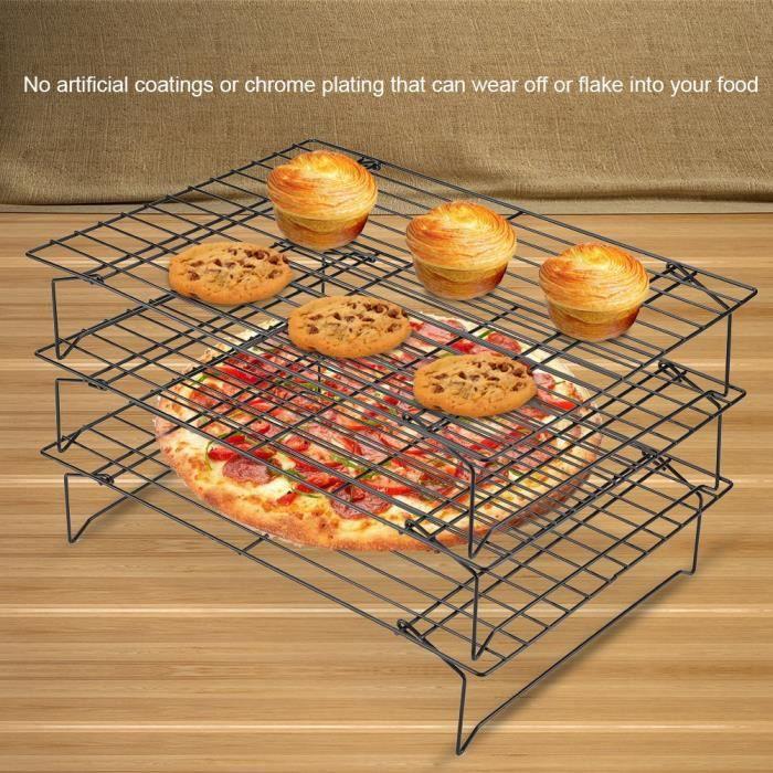 Grille de Refroidissement Gâteau Biscuits Pâtisserie Grille anti-adhésif Pour Biscuits - Gateau - Pain - Trois étages