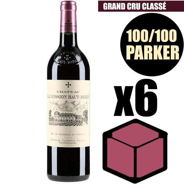 X6 Château La Mission Haut-Brion 2005 75 cl AOC Pessac-Léognan Rouge Grand Cru Classé Vin Rouge
