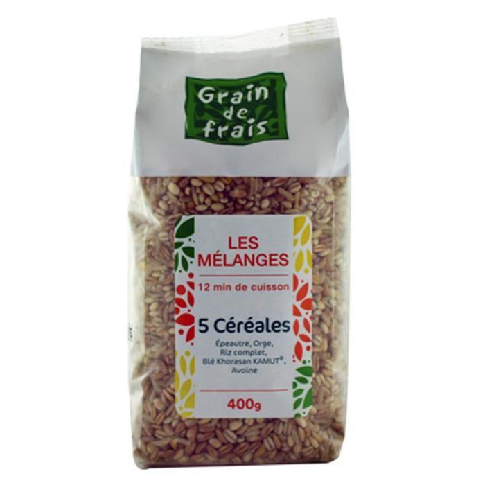 Mélange 5 céréales - Grain de Frais - paquet 400g