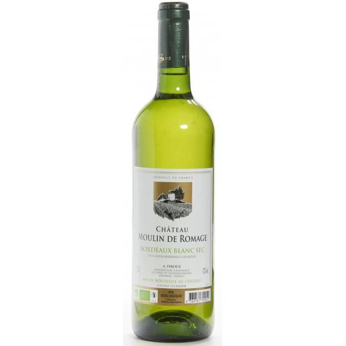 Moulin de Romage Bordeaux blanc sec 75cl