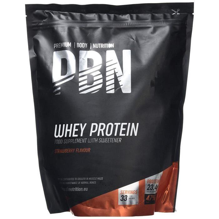 Premium Body Nutrition PBN Whey Protein Powder 1kg Strawberry - PBN4004