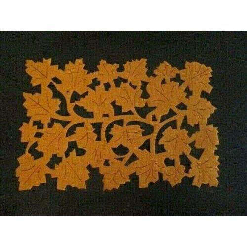 Set de table, set de table, set de table, - orange - motif -feuilles d'érable- - 40x27 cm - (4 pièces)