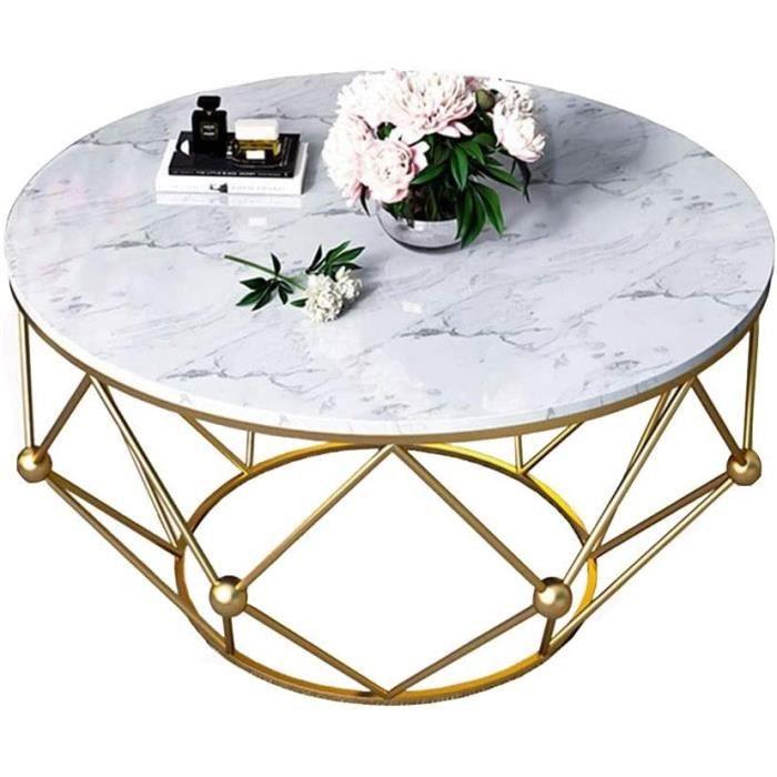 YNN Table Table d'appoint Ronde Petit Appartement Table Basse en marbre Salon Table d'appoint Table (Size : 50x50x44cm) A26