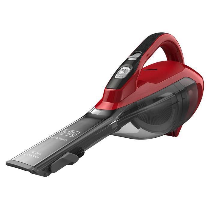 Black & Decker DVA315J Sans sac Cerise, Rouge aspirateur de table - Aspirateurs de table (Sec, Cyclonique, Sans sac, 0,5 L, Ceris