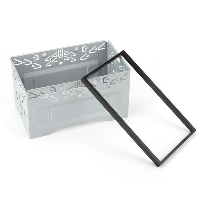 Sonew façade de DVD Kit de garniture de façade de cadre de navigation de cadre de lecteur DVD de contrôle central 2 Din