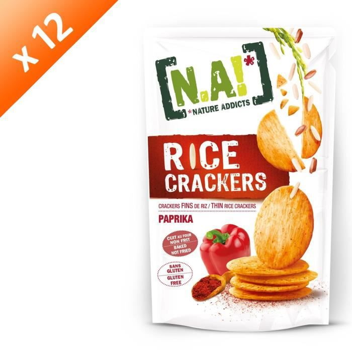 [LOT DE 12] Crackers de riz au paprika 70g N.A!
