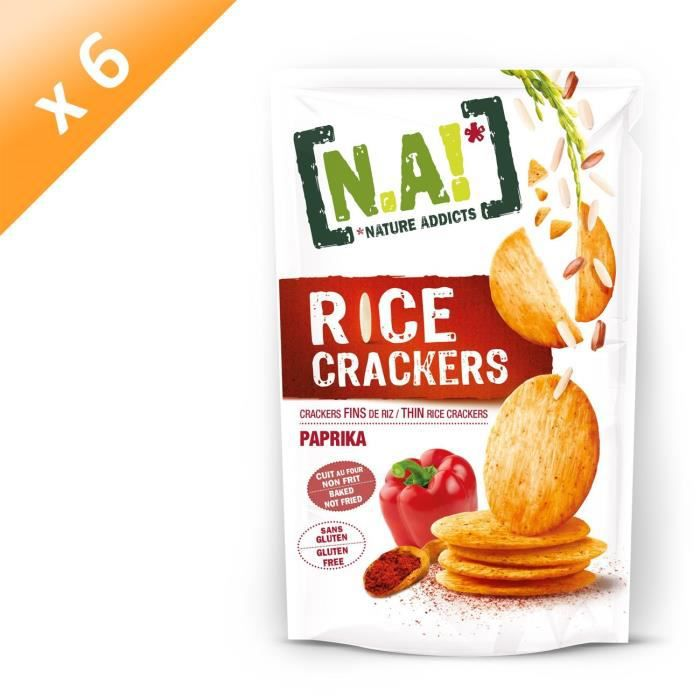 [LOT DE 6] Crackers de riz au paprika 70g N.A!