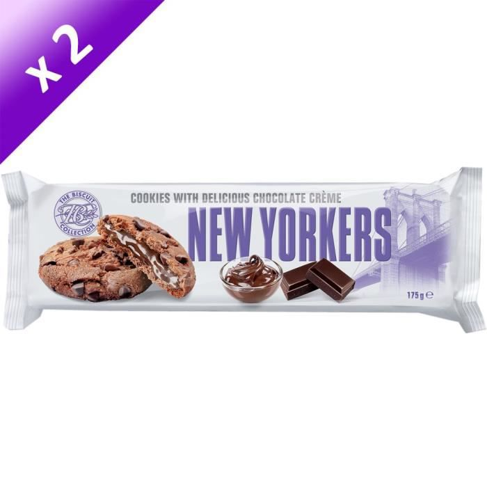 [LOT DE 2] NEW YORKERS Cookies Fourrés aux Noisettes - 175 g