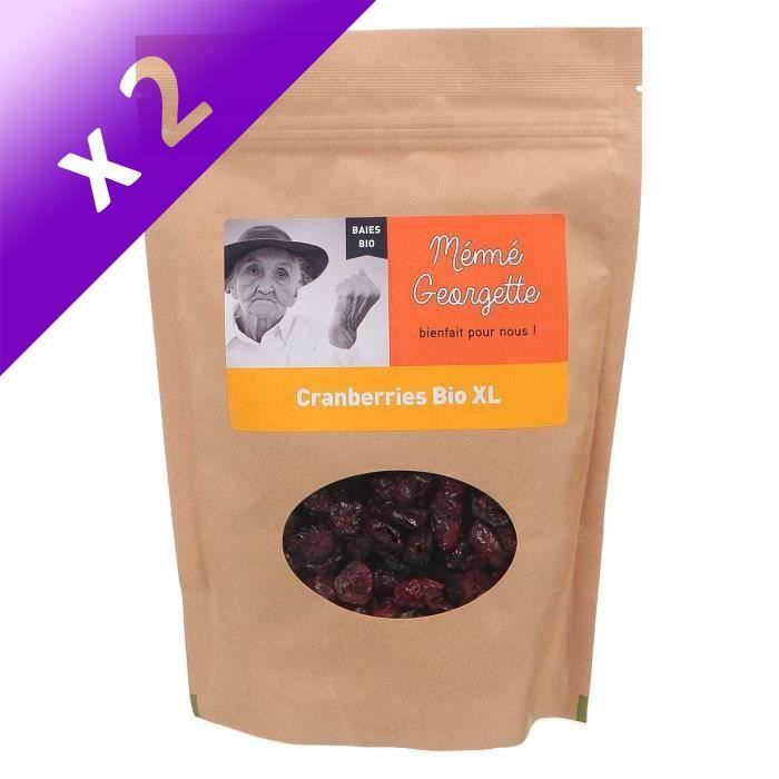[LOT DE 2] Cranberry Xl bio Mémé Georgette 250g