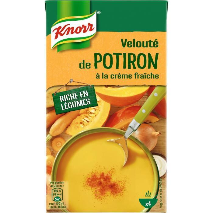 KNORR Soupe Liquide Velouté potiron à la crème fraîche - 1 l
