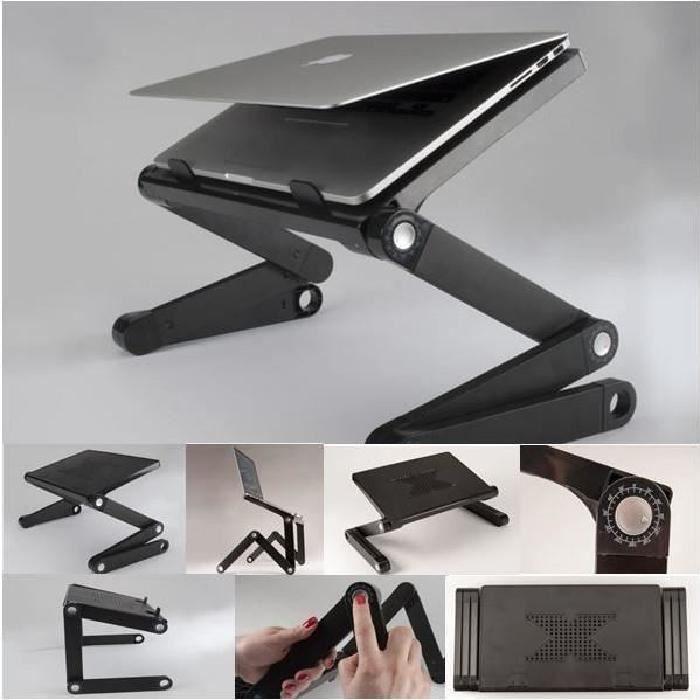 360 ° portable Tablette support pour odinateur multifonctions noir