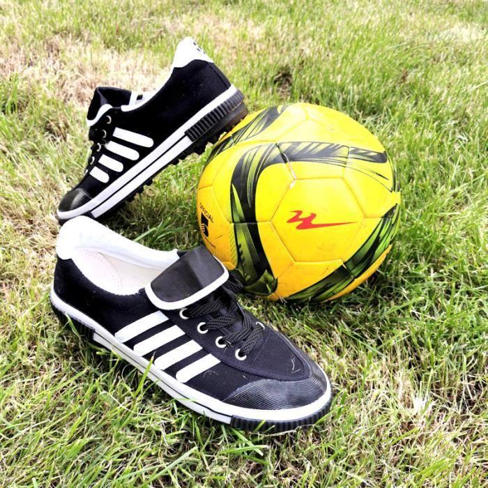 Chaussures de Football Hommes-Femmes Unisexe Adultes et Enfants Basses Entrainement Chaussures de Sport Antidérapant