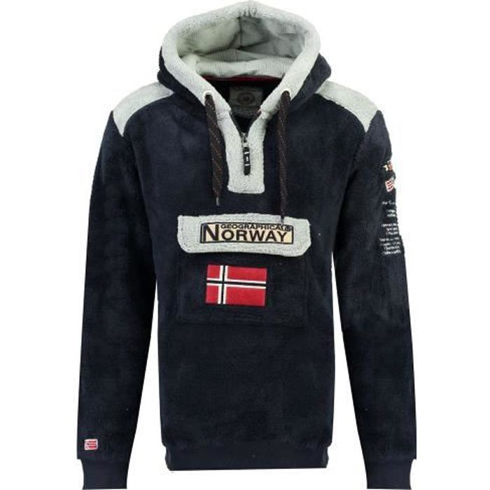 Polaire Homme Geographical Norway Gymclass Sherco 100EO Marine
