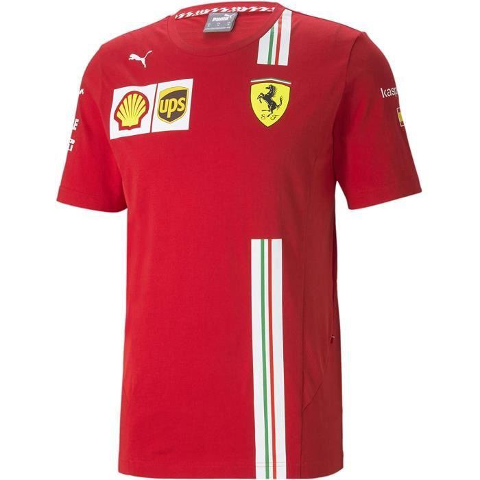 Tshirt Ferrari Scuderia Team Carlos Sainz Motorsport F1 Officiel Formule 1 Puma Collection