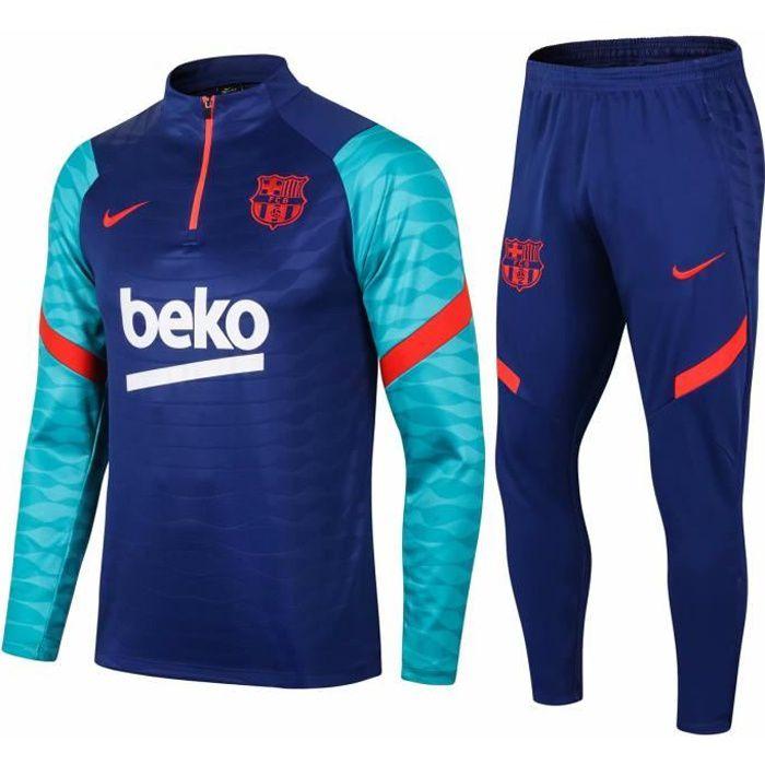 Nouveau Barcelones Survêtement Maillot de Foot Survet Kit Barcas 2021 2022 Barcelonas Pas Cher pour Homme