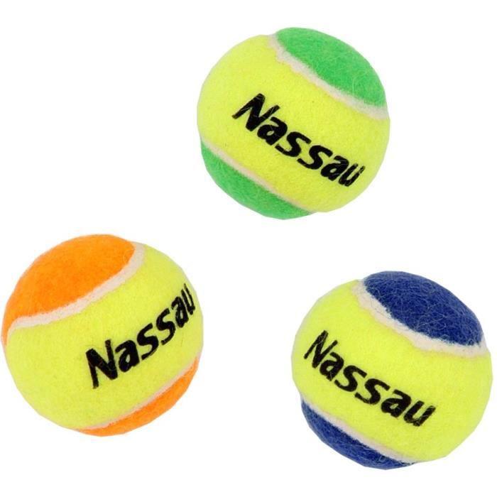 NASSAU 3 mini balles de tennis