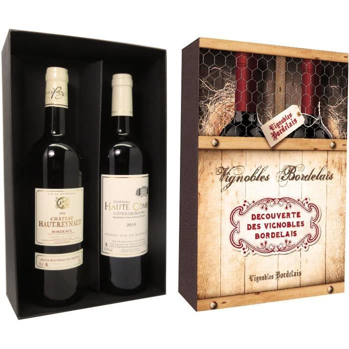 Coffret Découverte des Vignobles Bordelais 2 x 75 cl