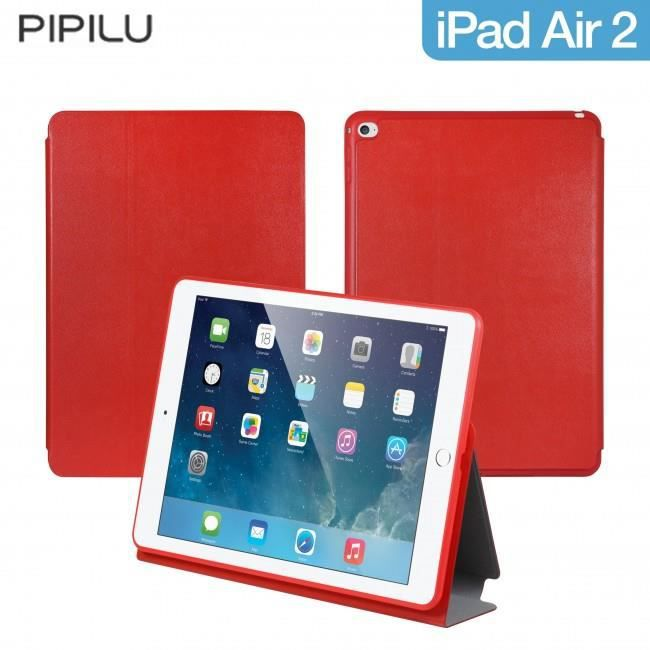 etui pipilu premium rouge pour ipad air 2 prix pas cher soldes cdiscount. Black Bedroom Furniture Sets. Home Design Ideas