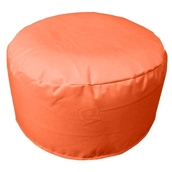 Pouf gonflable 55cm sp cial ext rieur orange anti for Pouf exterieur impermeable