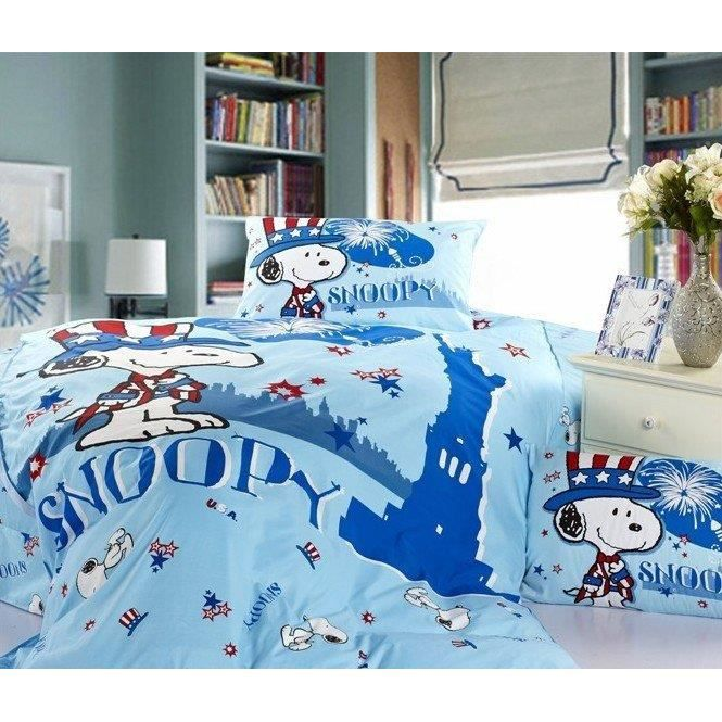 parure 3d 1 personne snoopy achat vente parure de lit cdiscount. Black Bedroom Furniture Sets. Home Design Ideas