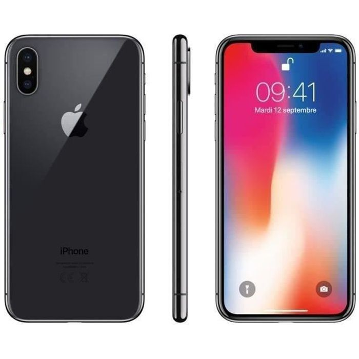 SMARTPHONE iPhone X 64 Go Gris Sideral Occasion - Comme Neuf