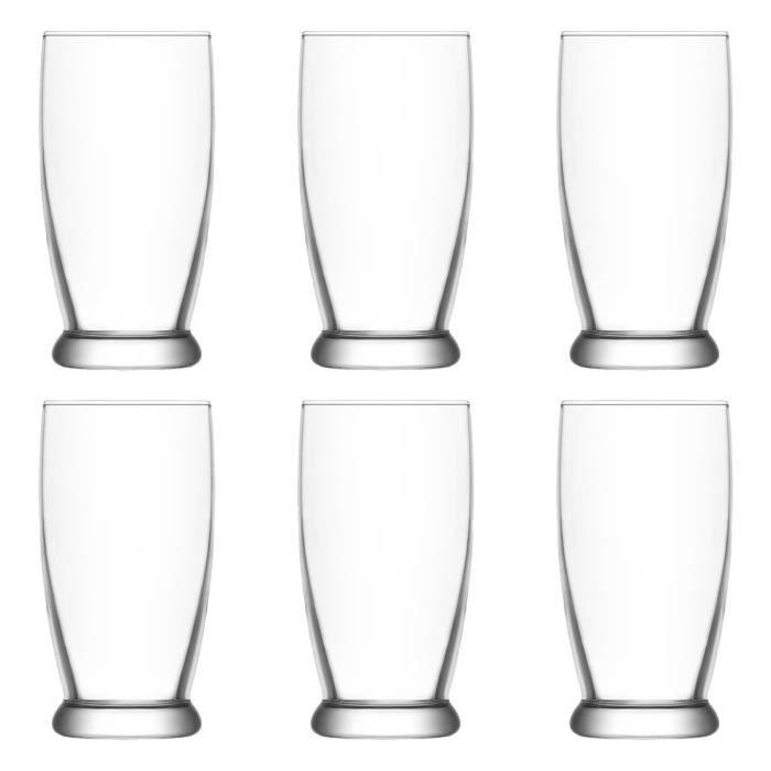 Original martini verre set de 6 verres rouge inscription