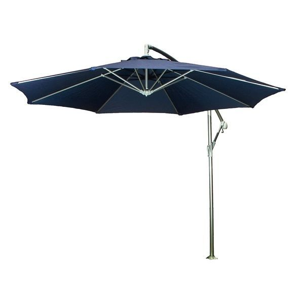 parasol excentr alu polyester bleu marine d3m achat vente parasol parasol excentr bleu. Black Bedroom Furniture Sets. Home Design Ideas