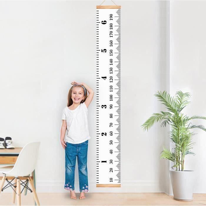 Multicolore, 200cm*21cm Carolilly R/ègle de Mesure de la Hauteur des Enfants Tableau de Croissance Suspendu Murale Toise Amovible 200cm*21cm