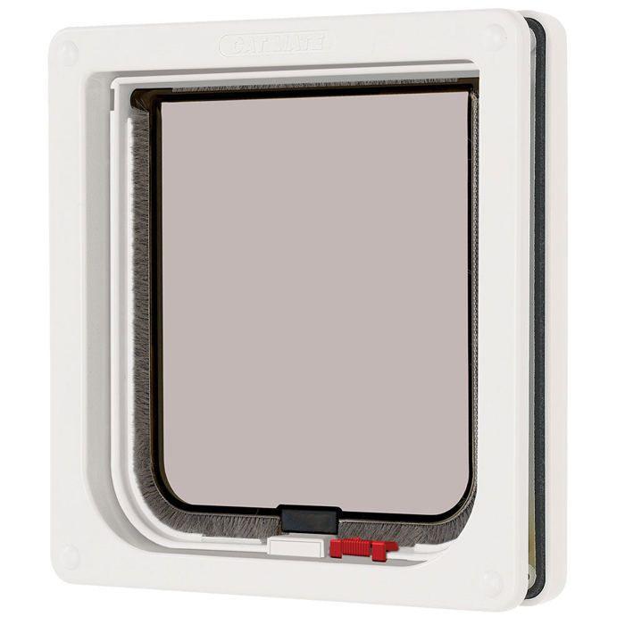 Pet Mate Chatiere Verrouillable 304w Blanc Pour Chat Achat