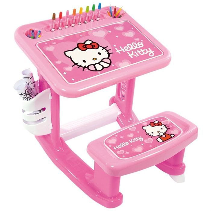 bureau enfant d 39 activit s hello kitty achat vente. Black Bedroom Furniture Sets. Home Design Ideas