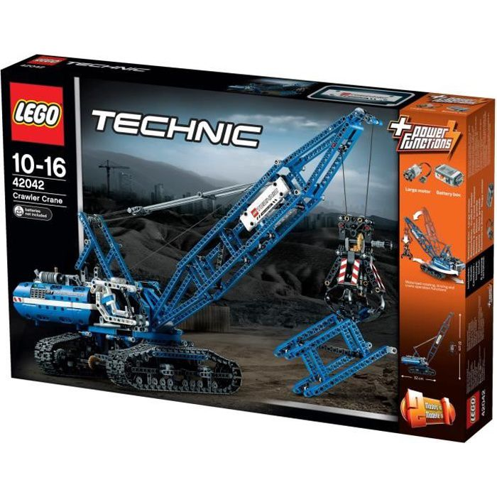 lego technic 42042 la grue sur chenilles achat vente assemblage construction les soldes. Black Bedroom Furniture Sets. Home Design Ideas