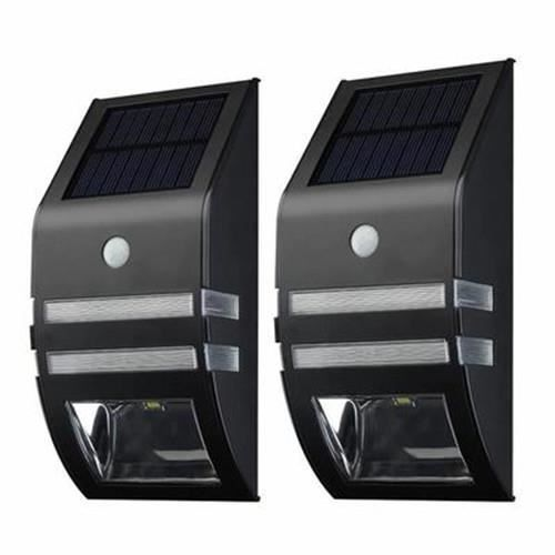 2pcs lampe solaire 3 led d tecteur de mouvement etanche d 39 ext rieur nergie solaire de d. Black Bedroom Furniture Sets. Home Design Ideas