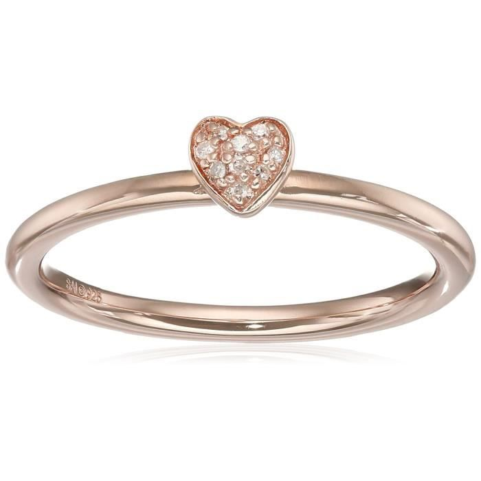 Decarat 3//4 Ct T.W diamant argent sterling forme ovale bague de fiançailles
