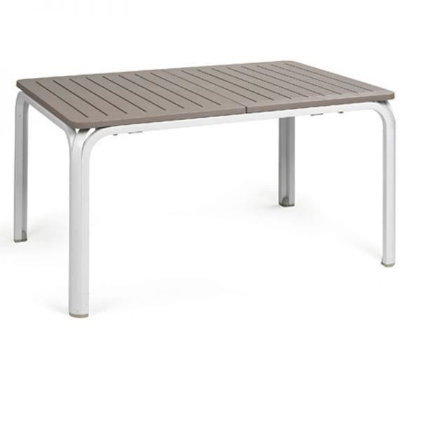 Table extensible nardi alloro 140 210 cm blanc tortora for Table extensible 140 cm