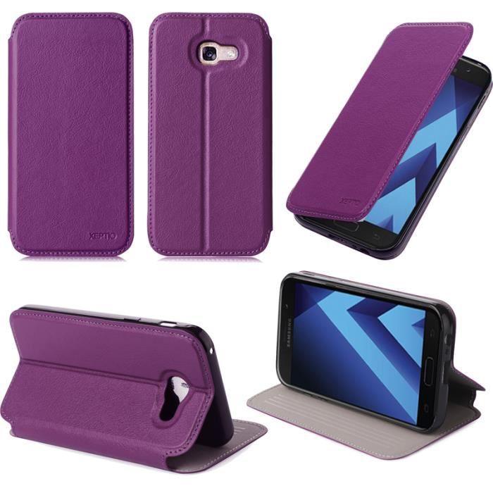 Etui coque Samsung Galaxy A5 2017 4G violet - Hous