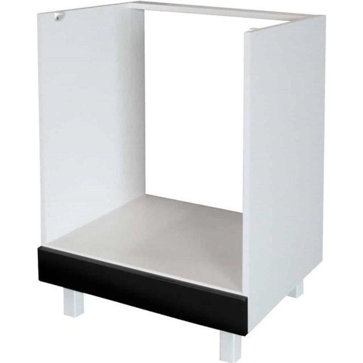Meuble Four Plaque Induction meuble four encastrable - 60cm - noir - achat / vente