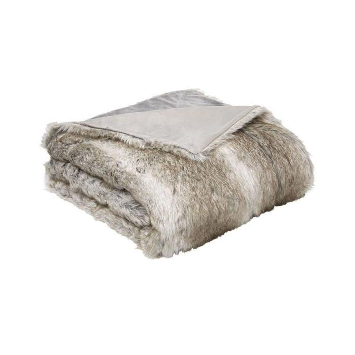 LUXE vison doux fourrure jeter canapé lit couverture vert simple double king