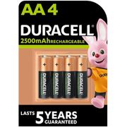 PILES DURACELL Piles Rechargeables UP AA X4