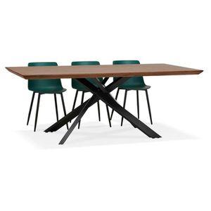 TABLE À MANGER SEULE Table à diner avec pied central en x 'WALABY' en b