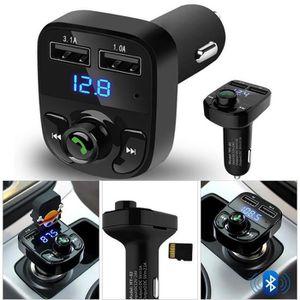 TRANSMETTEUR FM Kit voiture mains libres sans fil Bluetooth FM Tra