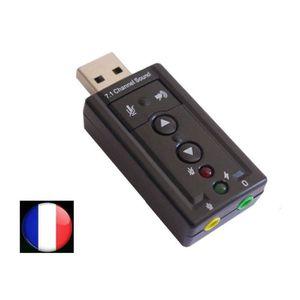 CÂBLE INFORMATIQUE ADAPTATEUR CLE USB CARTE SON 3D 7.1 AUDIO MICRO CA